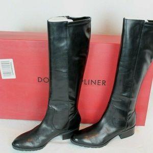 $398 Women's Donald Pliner Aliya Tall Boots Black